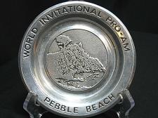 Buy Pebble Beach Pewter Plate World Invitational Pro Am Golf Wilton USA 6 inch