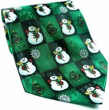 Buy Hallmark Yule Tie Snowman Snowflake Christmas Tree Green Red Tie