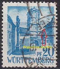Buy GERMANY Alliiert Franz. Zone [Württemberg] MiNr 0007 yv I ( O/used )