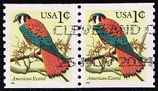 Buy US #3044 American Kestrel; Used Pair (0.50) (2Stars) |USA3044-09