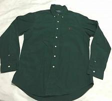 Buy RALPH LAUREN CLASSIC FIT Shirt cotton collar Button Men Sz L Green