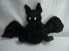 "Buy Ganz Webkinz Plush BAT Black Poseable Wings 9"" tall 17"" wingspan Halloween"