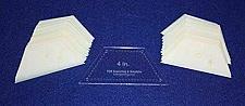 "Buy Mylar 4"" Half Hexagon 51 Piece Set - Quilting / Sewing Templates"