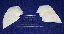 "Buy Mylar 2"" Half Hexagon 51 Piece Set - Quilting / Sewing Templates"