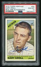 Buy 2015 TOPPS HERITAGE REAL ONE AUTO GARY KROLL, PSA 10 GEM MINT (29039553)