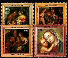 Buy ST. LUCIA [1987] MiNr 0904-07 ( **/mnh ) Weihnachten