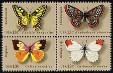 Buy US #1712-1715 Butterflies Block of 4; MNH (1.00) (3Stars) |USA1715a-06