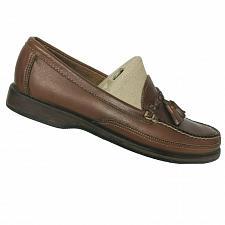 Buy Sebago Mens Brown Leather Tasseled Slip On Moc Toe Casual Loafers Size 8.5 M