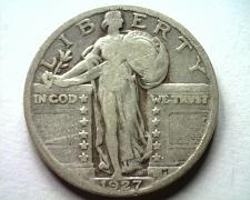 Buy 1927 STANDING LIBERTY QUARTER FINE+ F+ NICE ORIGINAL COIN FROM BOBS COINS