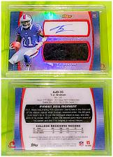 Buy NFL TJ Graham Buffalo Bills Autographed 2012 Topps Finest Game Jersey RC /1360