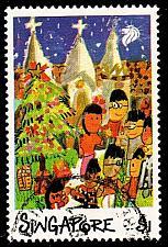 Buy SINGAPUR SINGAPORE [1989] MiNr 0586 ( O/used ) Weihnachten