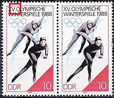 Buy GERMANY DDR [1988] MiNr 3141 I ( **/mnh ) Olympiade Plattenfehler Paar