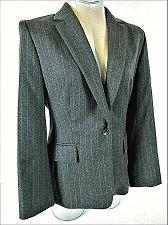 Buy Jaeger womens Sz 10 L/S gray Pink Pinstripe 1 button 100% Wool jacket (B4)P