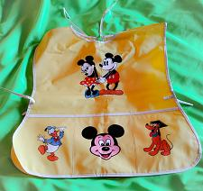 Buy AUTHENTIC WALT DISNEY MICKEY MOUSE CHILDREN'S ART SMOCK WITH POCKETS RARE