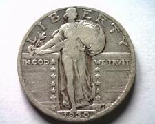 Buy 1930 STANDING LIBERTY QUARTER FINE+ F+ NICE ORIGINAL COIN BOBS COINS FAST SHIP