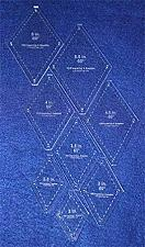 "Buy Diamond Templates 8 Pc Set No Tips 2"" - 5 1/2""- Clear 1/8"" 60 Degree"
