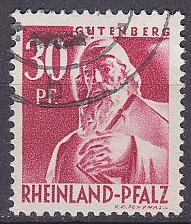 Buy GERMANY Alliiert Franz. Zone [RheinlPfalz] MiNr 0009 y ( O/used )