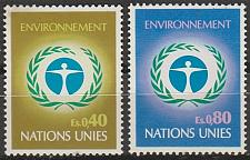 Buy [UG0025] UN Geneva: Sc. no. 25-26 (1972) MNH Complete Set