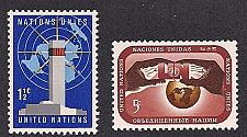 Buy [UN0166] UN NY: Sc. No. 166-167 (1967) MNH Full Set