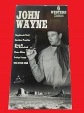 Buy JOHN WAYNE 6 WESTERN CLASSICS (VHS) JOHN WAYNE, PLUS FREE GIFT