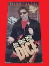 Buy ONE NIGHT WITH DICE (VHS) ANDREW DICE CLAY, STAND UP COMEDY, PLUS FREE GIFT