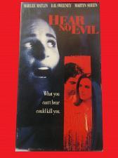 Buy HEAR NO EVIL (VHS) MARLEE MATLIN, MARTIN SHEEN (THRILL/SUSPENSE), PLUS FREE GIFT
