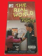 Buy THE REAL WORLD: GREATEST FIGHTS (VHS) REALITY TV, MTV, PLUS FREE GIFT