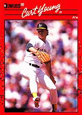 Buy Curt Young #505 - Athletics 1990 Donruss Baseball Trading Card