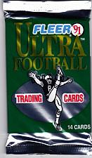 Buy Fleer Ultra 1991 Football Cards Factory Sealed Pack