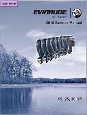 Buy 2010 Evinrude E-tec 15 25 30 HP Outboard Motor Service Repair Manual CD