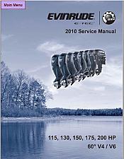 Buy 2010 Evinrude E-tec 115 130 150 175 200 HP Outboard Motor Service Repair Manual CD