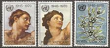 Buy [VC0492] Vatican City: Sc. no. 492-494 (1970) MH full set