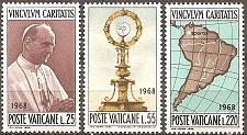 Buy [VC0461] Vatican City: Sc. no. 461-463 (1968) MH full set