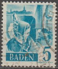 Buy [GS5N30] German States (Baden): Sc. no. 5N30 (1948-1949) Used