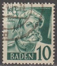 Buy [GS5N33] German States (Baden) Sc. no. 5N33 (1948-1949) Used