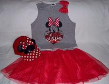 Buy Minnie Mouse polka dot hat skirt and shirt