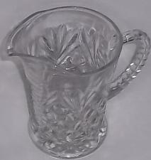 Buy Vintage crystal clear pressed glass creamer