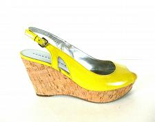 Buy Audrey Brooke Yellow Gareth Platform Wedge Sandals Shoes Women's 9 1/2 M (SW15)