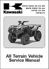 Buy 2012-2014 Kawasaki Brute Force 750 4X4i / KVF750 4X4 EPS Service Repair Manual CD