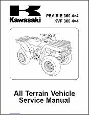 Buy 2003-2012 Kawasaki Prairie 360 4X4 / KVF 360 4X4 ATV Service Repair Manual CD