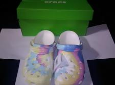 Buy Adult Crocs BRAND NEW W/TAGS, Size 11 US Classic Tie Dye Graphic WITH FREE GIFT