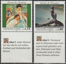 Buy [UG0193] UN Geneva Sc. no. 180-181 (1989) MNH Cpl Set