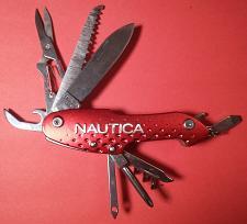 Buy NAUTICA Swiss Style Pocket Knife - 10 Tools N One MULTI-TOOL! - Stainless Steel