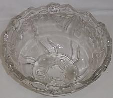Buy Vintage Footed Clear Glass Rossette Serving Bowl