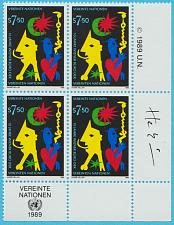 Buy [UV0094] UN Geneva: Sc. no. 94 (1989) MNH Block of 4