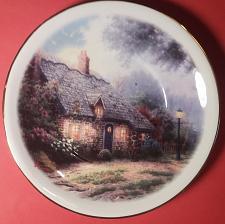 "Buy Thomas Kinkade - Painter of Light - ""Moonlight Cottage"" Decorative Saucer ~ 6 Inch"