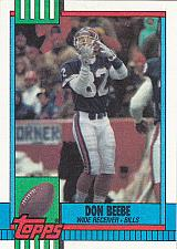 Buy Don Beebe #200 - Bills 1990 Topps Football Trading Card