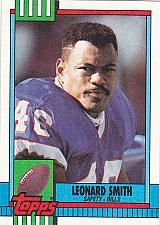 Buy Leonard Smith #194 - Bills 1990 Topps Football Trading Card