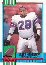 Buy Larry Kinnebrew #210 - Bills 1990 Topps Football Trading Card