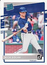 Buy 2020 Donruss #57 - Nick Solak - Rangers